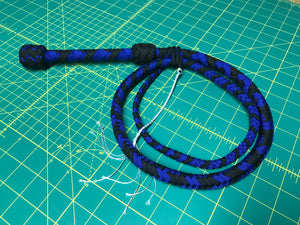 4 Foot Black & Blue Bullwhip