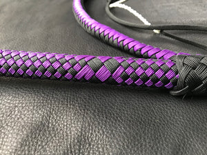 5' Purple and Black Nylon Bullwhip