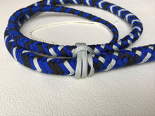 Load image into Gallery viewer, 4 Ft. Silver, Black and Blue Target Bullwhip