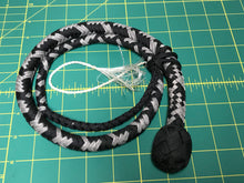 Load image into Gallery viewer, 3 Ft Black & Grey Snake Whip