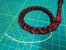 Load image into Gallery viewer, 4 Foot, Black & Red Bullwhip