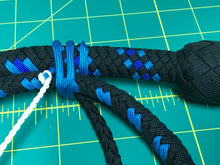 Load image into Gallery viewer, 3 Ft Black & Blue Nylon Snake Whip