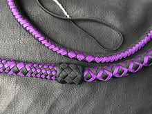 Load image into Gallery viewer, 5' Purple and Black Nylon Bullwhip