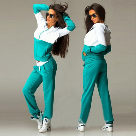 Women's Sports Suits Sexy Tracksuit 2 Piece Set Women Sportswear Jogging Track Suit Women Sport Set Two Piece Set Women