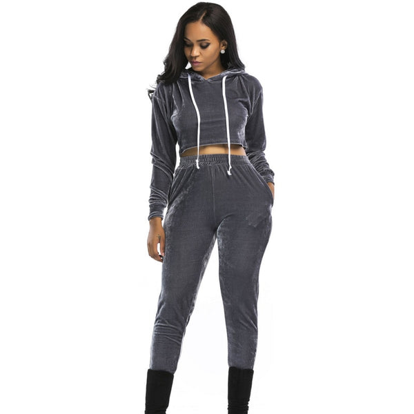 Velvet Tracksuits 2 Two Piece Set
