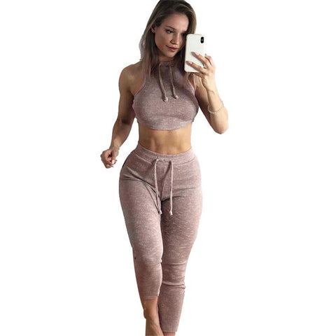 Ribbed Breathable Yoga Set
