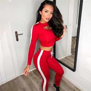 Women's crop-top tracksuit