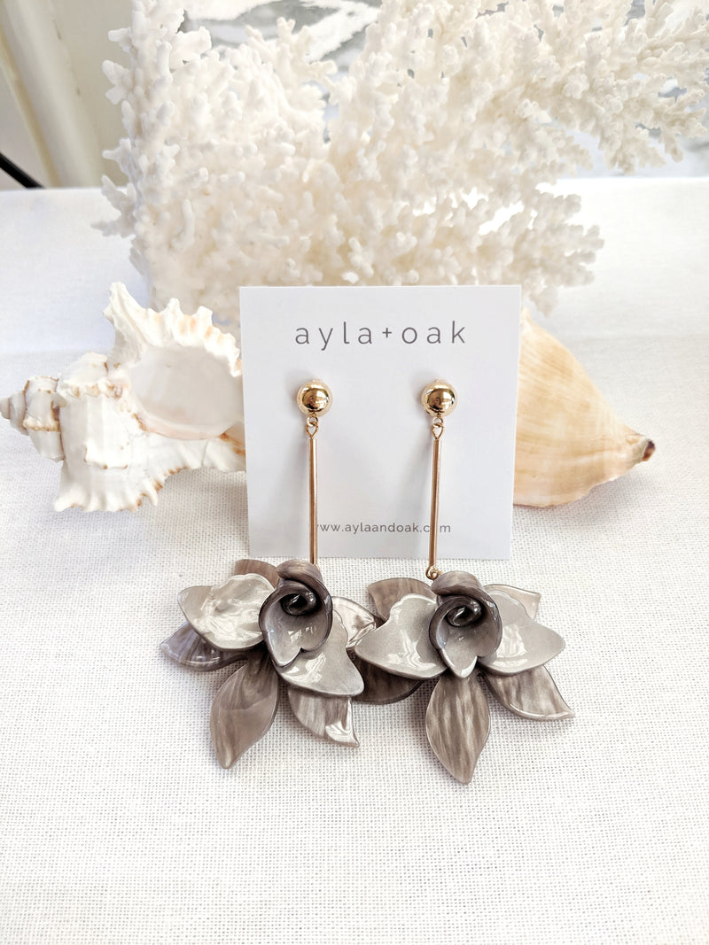 Floriade Earrings - Grey
