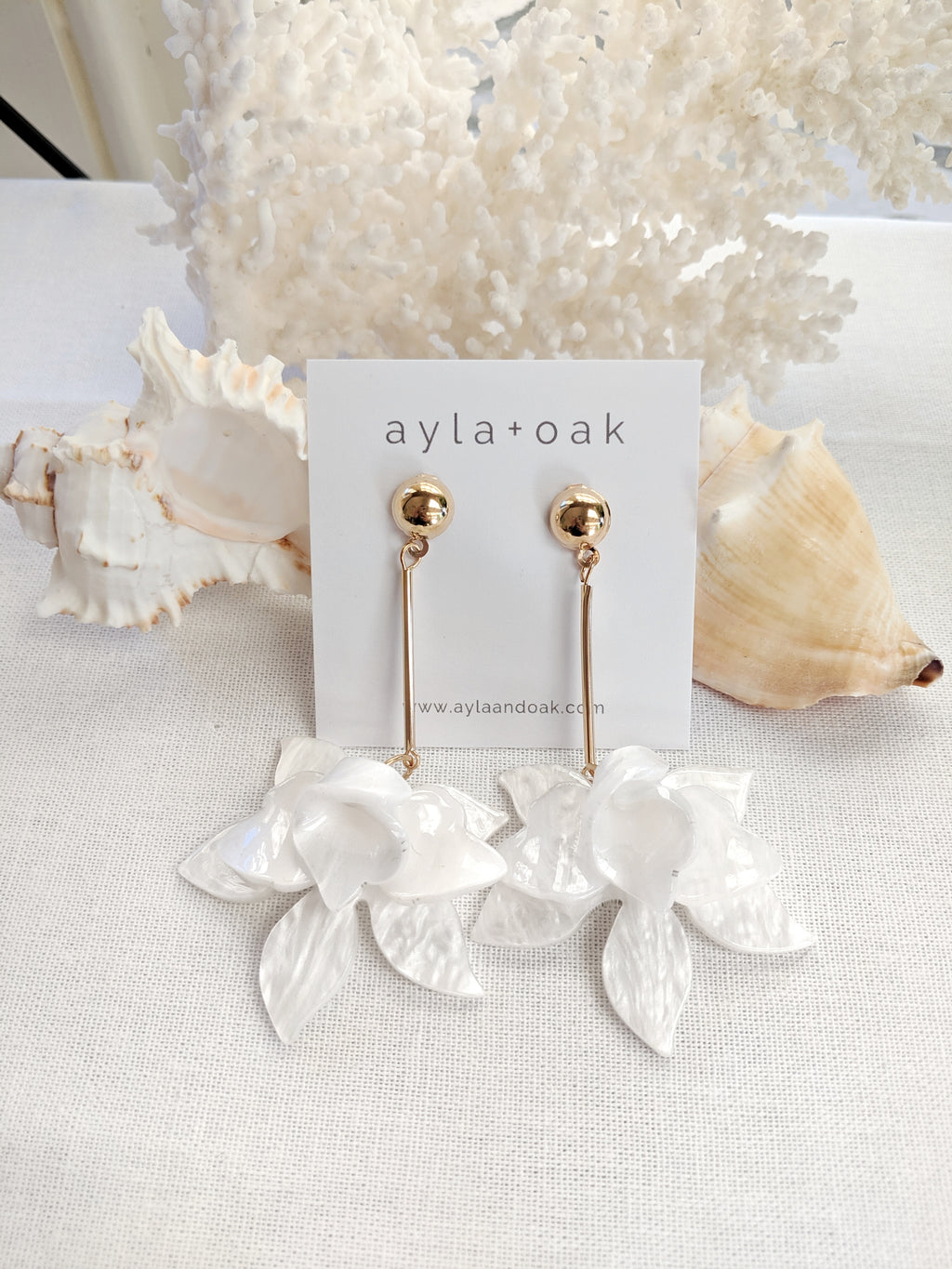 Floriade Earrings - White