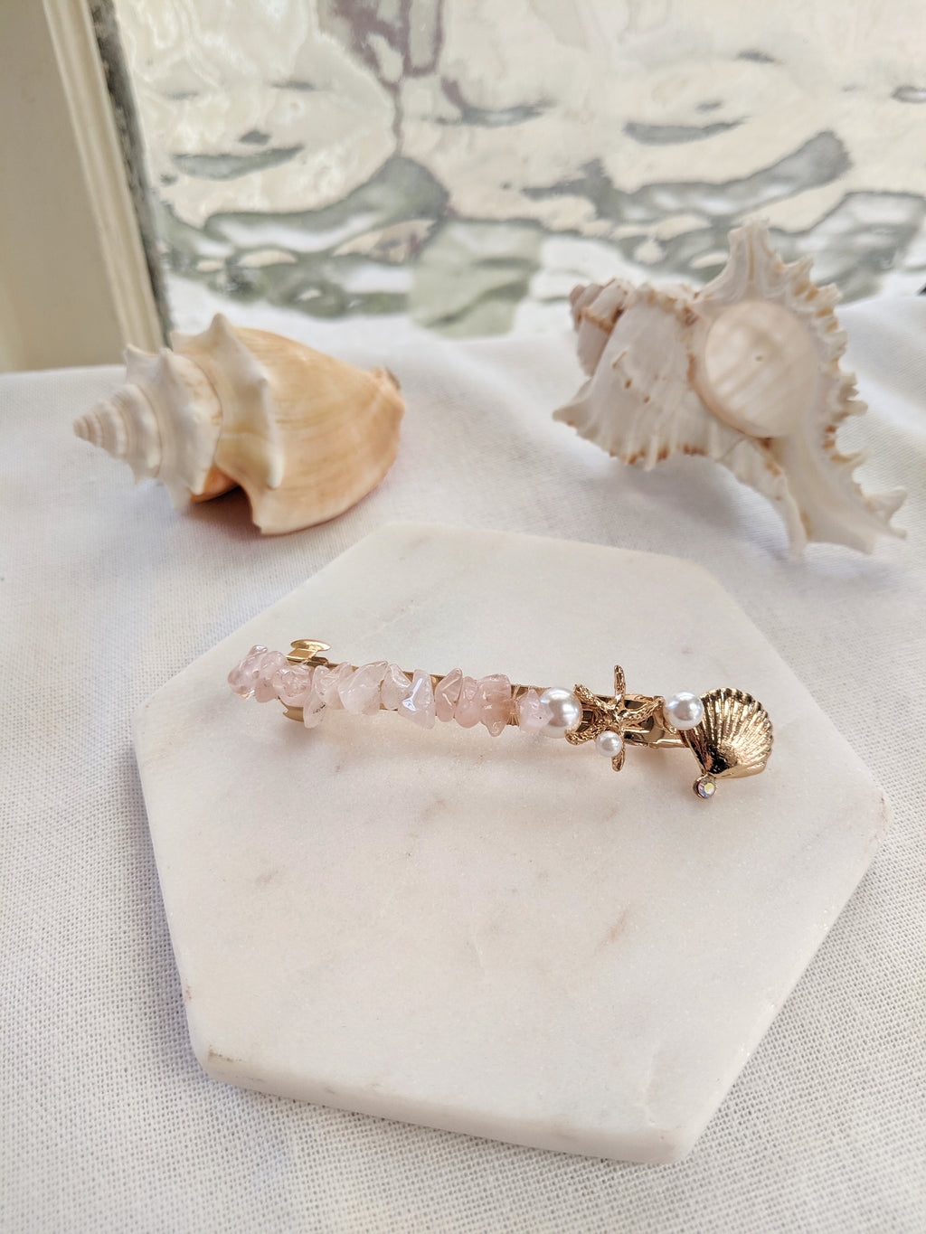 Seaside Crystal Barrette