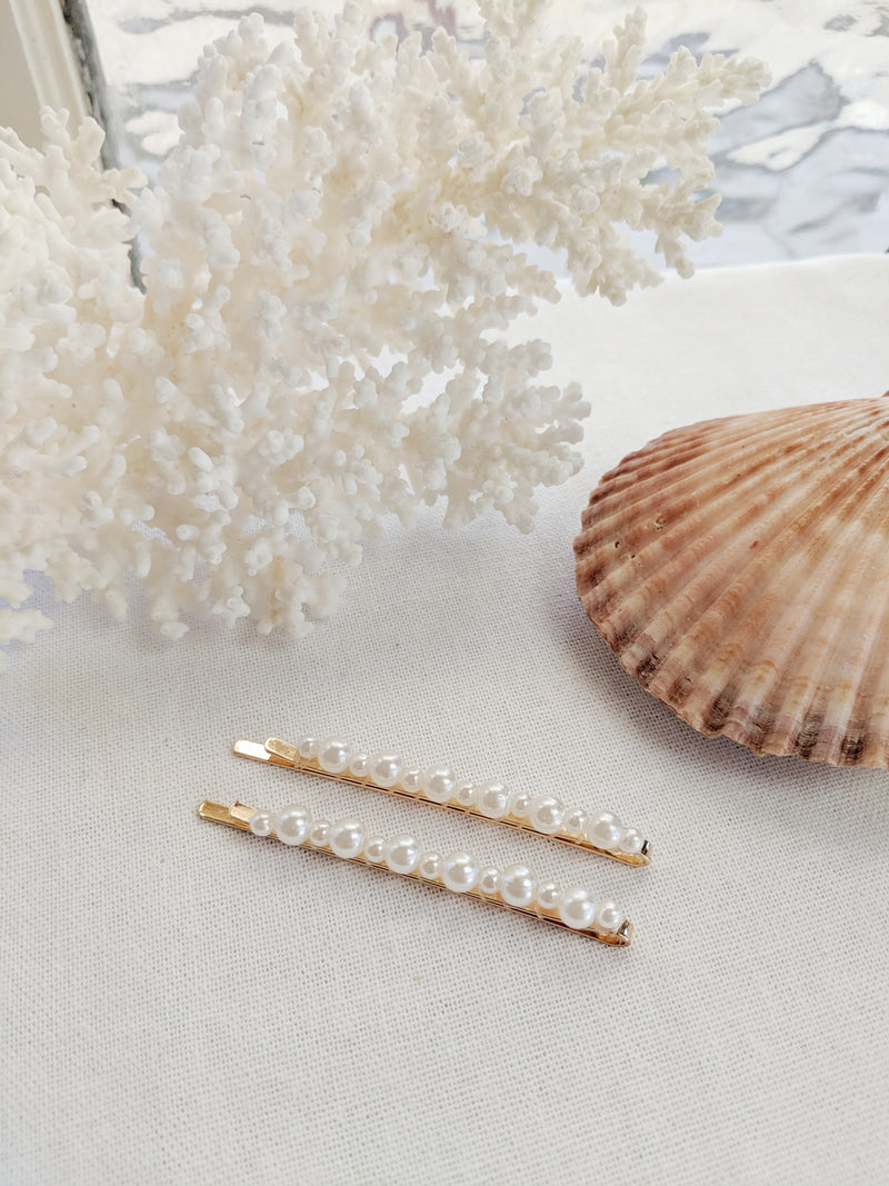 Faux Pearl Hairpins - Set of two