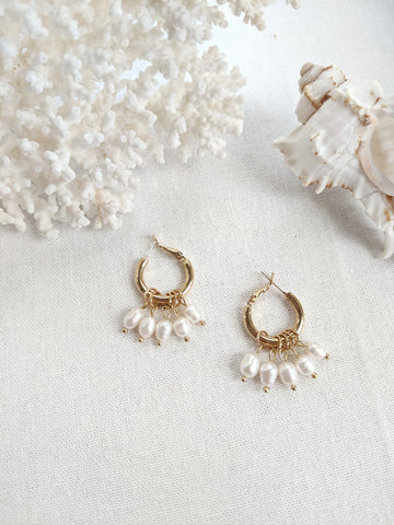 Hallie Frosted Drop Earrings