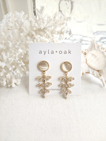 Mija Rattan Earrings