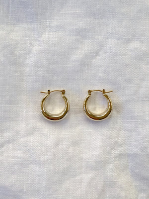 Veneta Hoop Earrings - 14k Gold plated