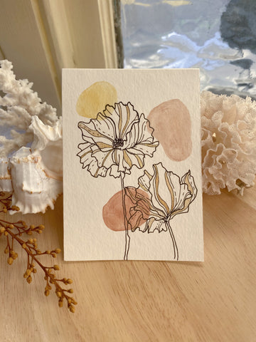 Ayla + Oak Poppy Prints - Design 6 (SOLD)