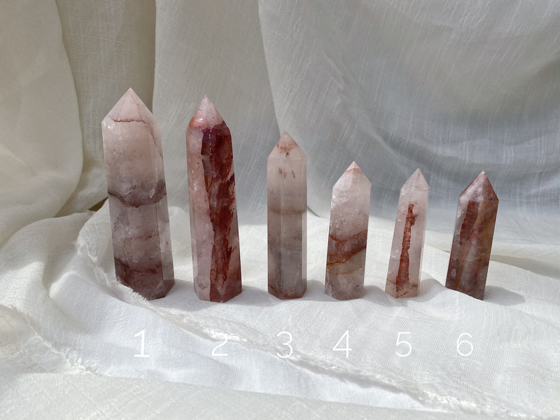 Fire Quartz Hematoid Tower Points