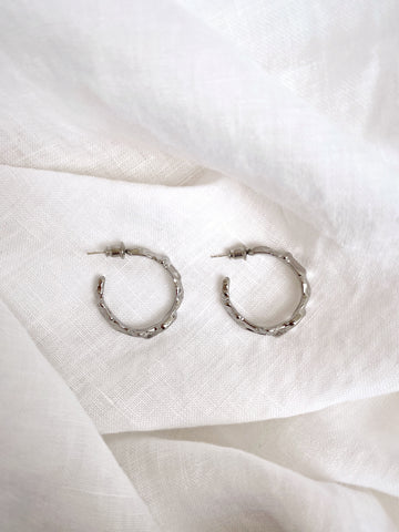 Veneta Hoop Earrings - Silver