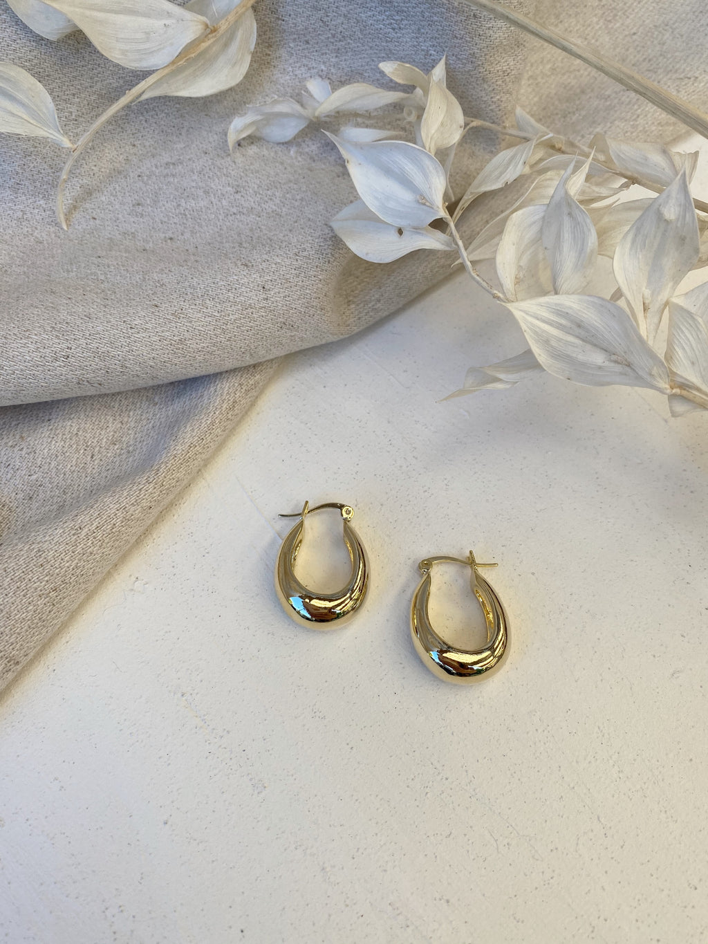 Jana Hoop Earrings - 14k Gold plated