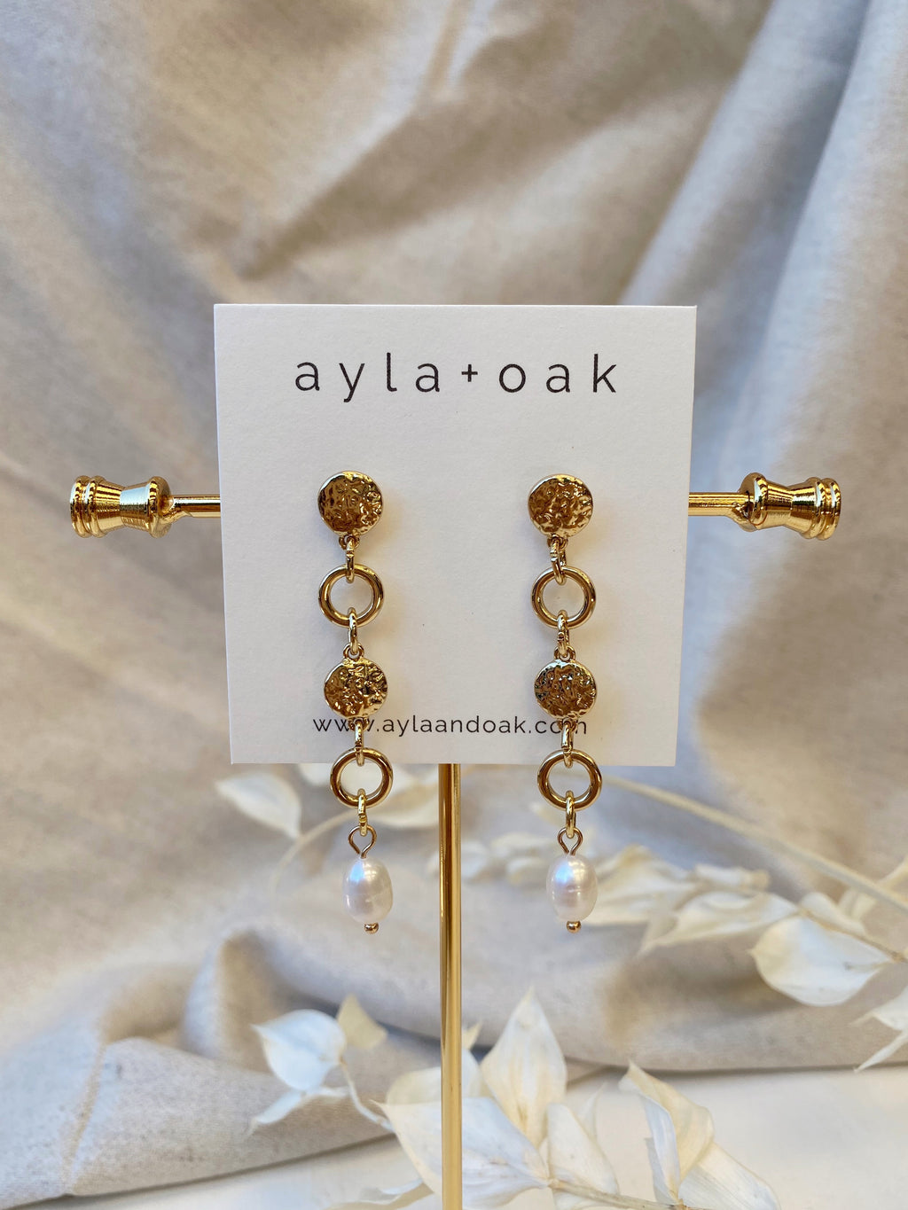 Mirna Earrings - 14k Gold plated