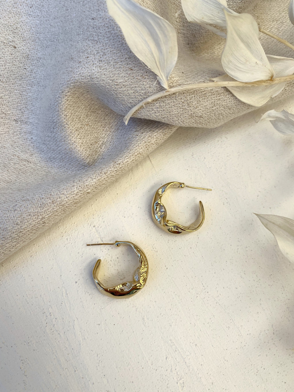 Catia Hoop Earrings - 14k Gold plated