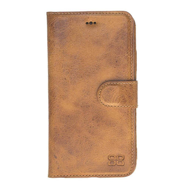 Ultra Magnetisch afneembaar Leder Wallet Case Apple iPhone XR - Vegetal Tan