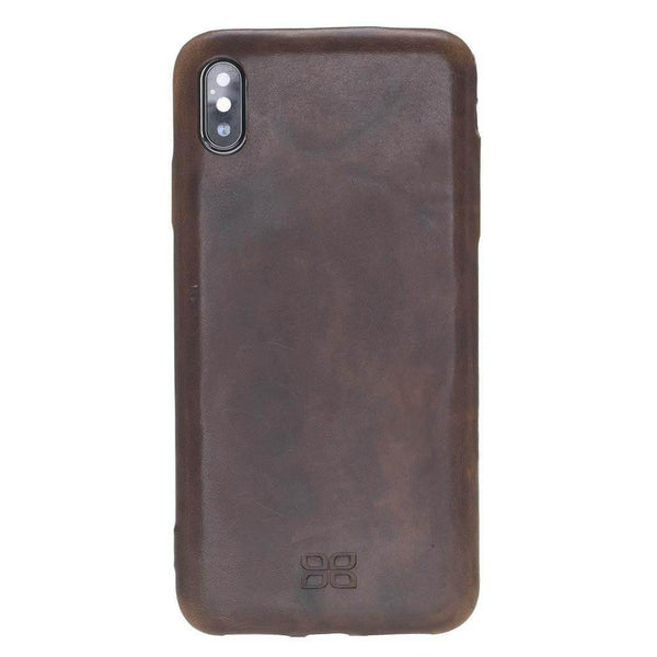 Leder Ultra Cover On Back Cover iPhone XS MAX - Vegetal Dark Brown