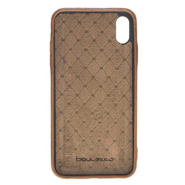 Leder Ultra Cover met Credit Card gleufjes Apple iPhone XS MAX - Vegetal Tan