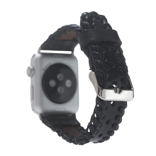 Leder Horlogebandje Apple Watch 38mm / 40 mm - Rustic Black