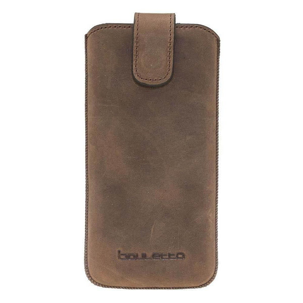 Insteekhoesje Leder Case met Card Holder iPhone XS MAX - Antic Brown