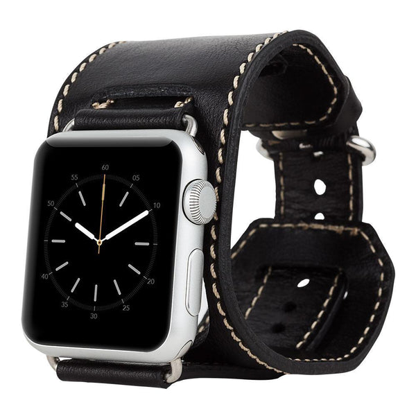 Leder Horlogebandje Apple Watch 38mm/40mm - Rustic Black