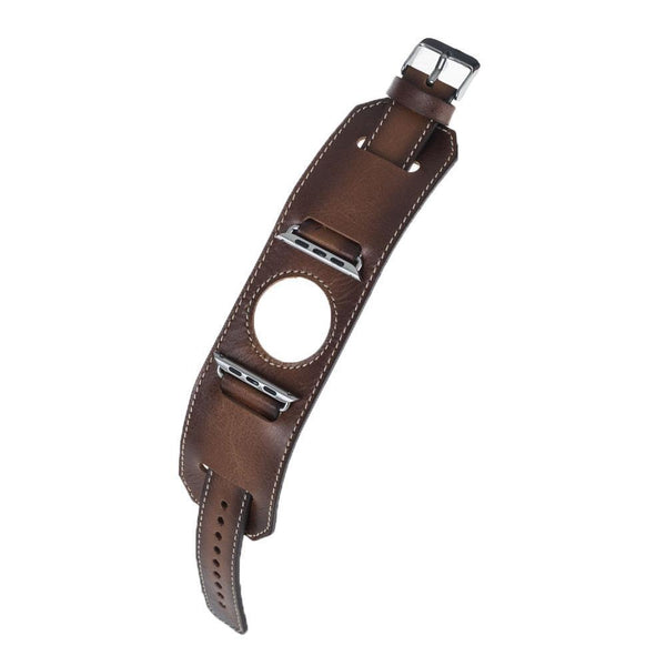 Leder Horlogebandje Apple Watch 38mm / 42mm - Rustic Tan met Effect