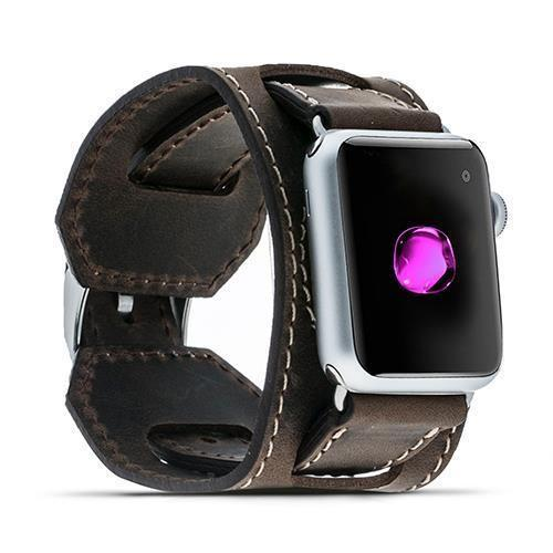 Leder Horlogebandje Apple Watch 38mm / 42 mm -  Antic Brown