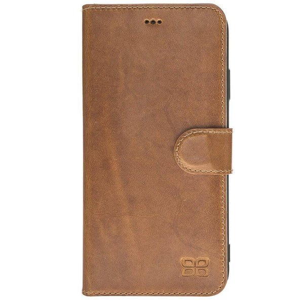 Wallet Folio Leder Case met ID gleufje iPhone XSM - Vegetal Tan