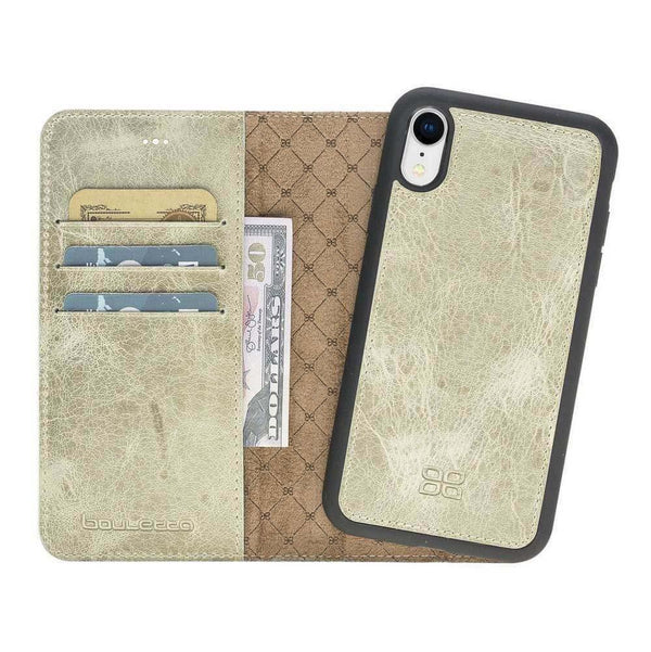 Magnetisch afneembaar Leder Wallet Case Apple iPhone XR - Vegetal Water Green