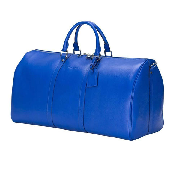 Caira Leder Travel Bag Large - Blue