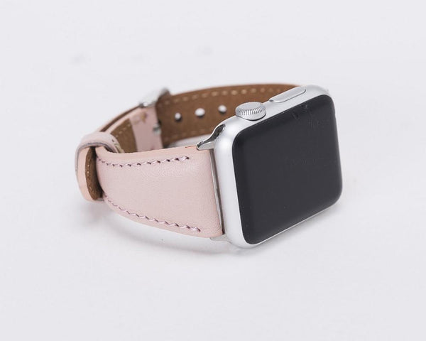 Leder Watch Slim Strap Apple Watch 38mm / 40 mm - NUDE