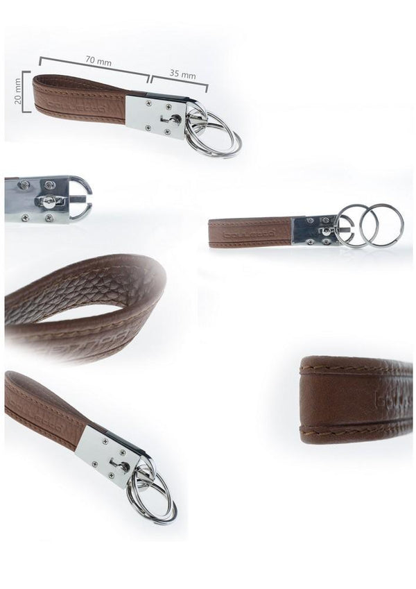 Flexible Leder Keychain - Floater Brown