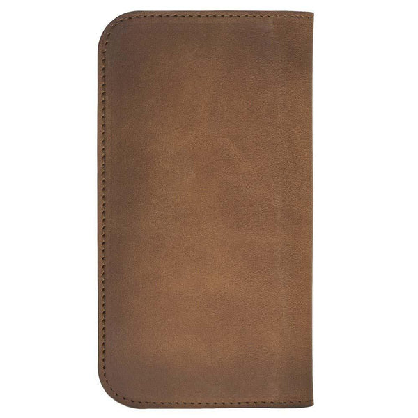 Leder Universeel Clutch Wallet Case tot 5.7 inch Phones - Rustic Burnished Tan