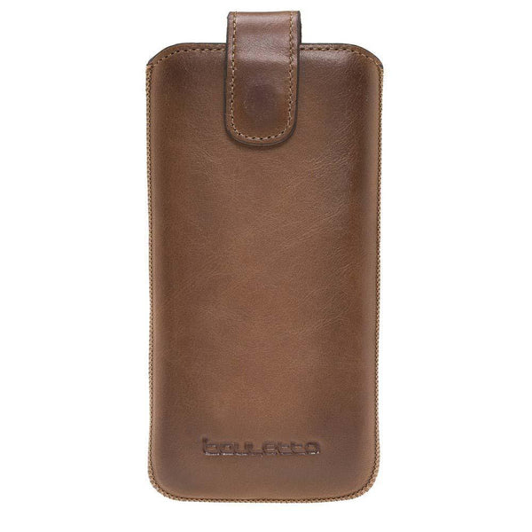 Insteekhoesje Leder Case met Card Holder iPhone XR - Rustic Burnished Tan