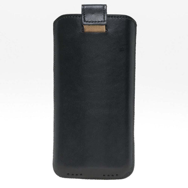 Insteekhoesje Leder Case iPhone XR - Rustic Black