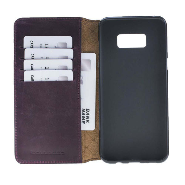 Leder Book Case Samsung Galaxy S8 Plus - Antic Purple