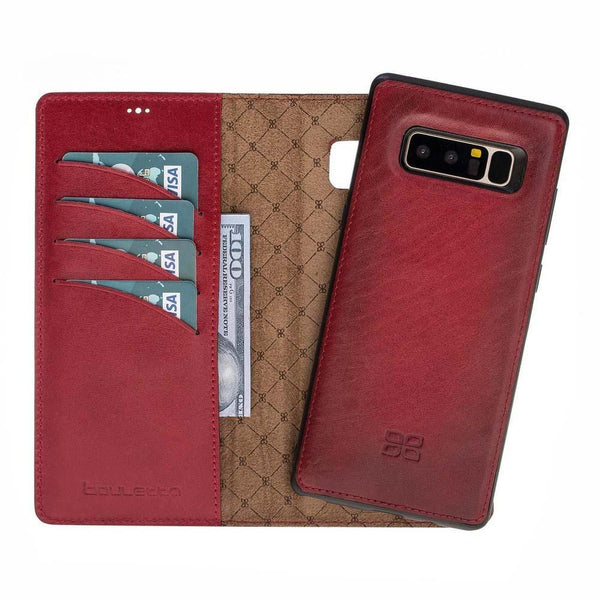 Magnetisch afneembaar Leder Wallet Case Samsung Note 8 - Vegetal Burnished Red