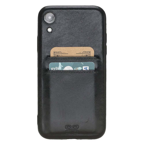 Leder Ultra Cover met Card Holder Apple iPhone XR - Rustic Black