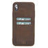 Leder Ultra Cover met Card Holder Apple iPhone XS Max - Antic Brown