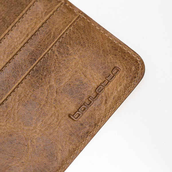 Leder Wallet Case New iPad 9.7 - Vegetal Tan met Vein