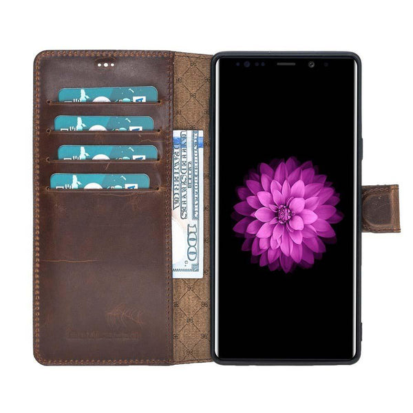 Wallet Folio Case met visible ID gleufje Samsung Note 9 - Vegetal Dark Brown