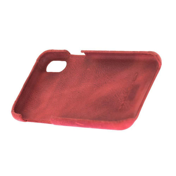 F360 Leder Back Cover Case Apple iPhone X/XS- Rome Red