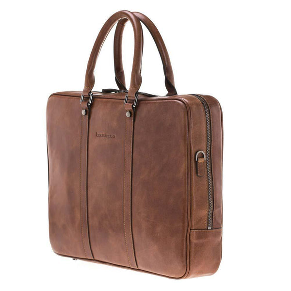 Sardis Leder Laptop Bag - Tan