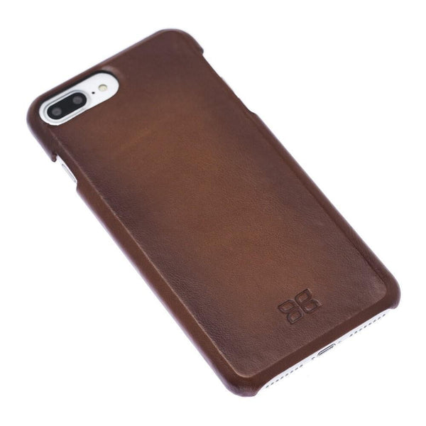 F360 Leder Back Cover Case Apple iPhone 7 Plus / iPhone 8 Plus - Rustic Burnished Tan
