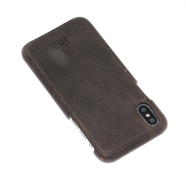 F360 Leder Back Cover Case Apple iPhone X/XS - Rome Brown